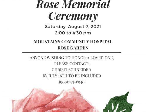 Rose Memorial Ceremony